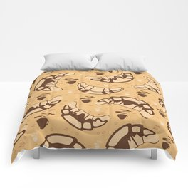 Seamless croissant background Comforters