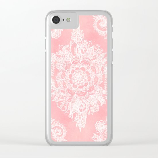 Marshmallow Lace Clear iPhone Case