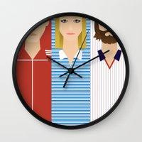 tenenbaums Wall Clocks featuring The Children Tenenbaum by Brandon Autry