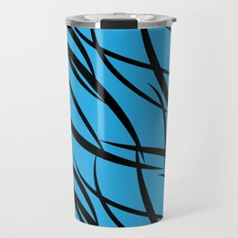 Sea intertwining black lines. Travel Mug