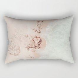 beach - pink champagne Rectangular Pillow