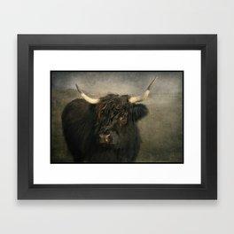 The Black Cow Framed Art Print