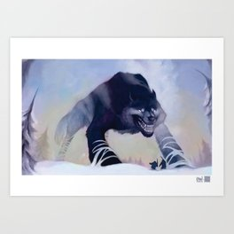 Fenrir the Wolf Art Print