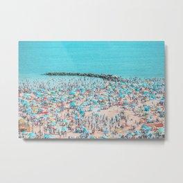 Blue Summer Beach Metal Print