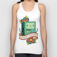 bmo Tank Tops featuring BMO | CHECK PLEASE by Daniel Mackey