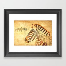Zebra Dreams Framed Art Print