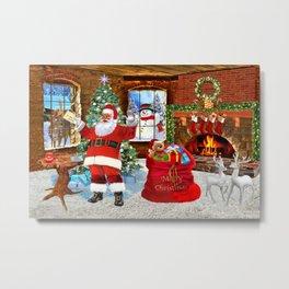 Merry Christmas From Santa Metal Print