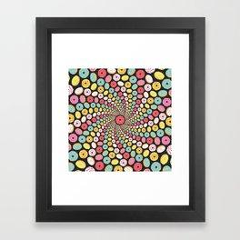 Donut Swirl Framed Art Print