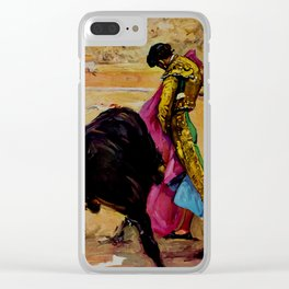 Fiesta de Toros in Spain Travel Clear iPhone Case