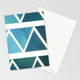 Triangles Two Stationery Cards