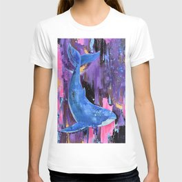 Drawing Blue Whale T-shirt
