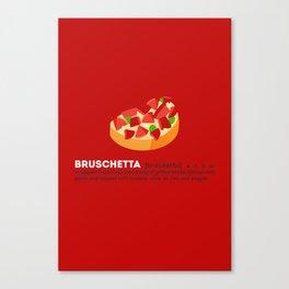 Bruschetta su Rosso Canvas Print