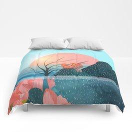 Botanical under the sea 1 Comforters