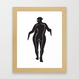 Woman Chick Framed Art Print