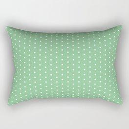 White dots on green background Rectangular Pillow