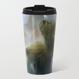His Realm - White stag in beautiful otherwordly Landscape Travel Mug