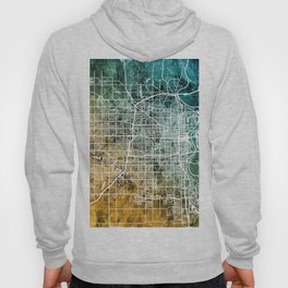 Omaha Nebraska City Map Hoody