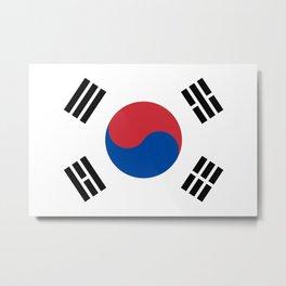 South Korea Flag South Korean Patriotic Metal Print