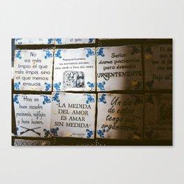 Souvenirs Canvas Print