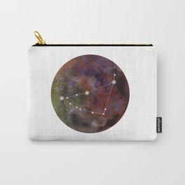 Watercolor Zodiac Capricorn Galaxy Carry-All Pouch