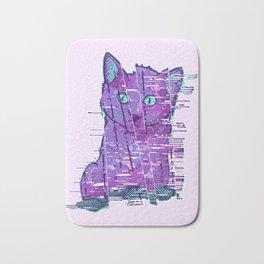 Glitchy Kitty Bath Mat