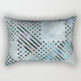 Abstract Geometric Labradorite on Mother of pearl Rectangular Pillow