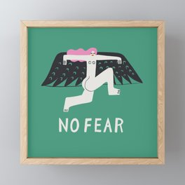 No Fear Framed Mini Art Print