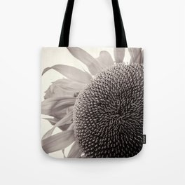 Sunflower BnW Tote Bag