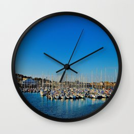 The Boats of Howth Harbor Wall Clock