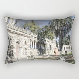 Royal Gardens Reflection - Alcazar of Seville Rectangular Pillow