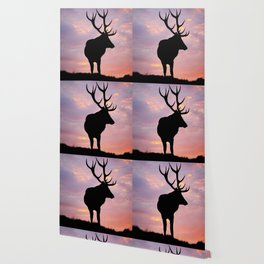 Stag And Sunset Wallpaper