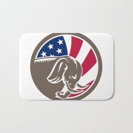 Republican Elephant Mascot USA Flag Bath Mat