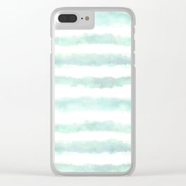 Watery Stripes Clear iPhone Case
