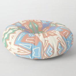 Partying With Angles - Multicolored Geometric Floor Pillow