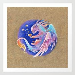The heart of stars Art Print