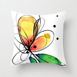 Ecstasy Bloom No.8 by Kathy Morton Stanion Throw Pillow