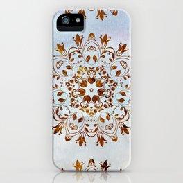 golden mandala design iPhone Case
