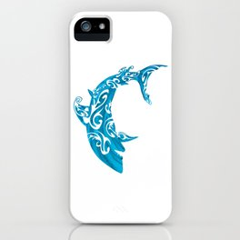 Shark Dive Watercolor Save A Shark iPhone Case