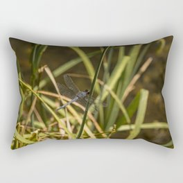 Dragonfly in the marsh Rectangular Pillow