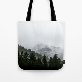 Faded Forest Landscape Tote Bag