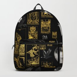 Beautiful Tarot Print with Raven and Moon Backpack