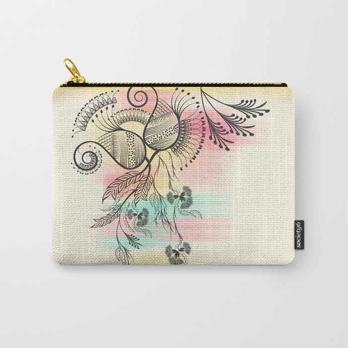 Decorative Floral Carry-All Pouch