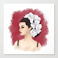 selena gomez Canvas Prints featuring Selena by Quinn