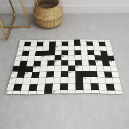Crossword Puzzle Pattern Rug