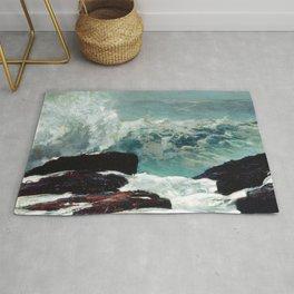 Maine Coast by Winslow'Homer' Rug