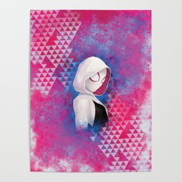 Gwen, digital painting Poster
