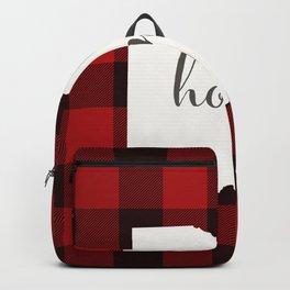 Ohio is Home - Buffalo Check Plaid Backpack