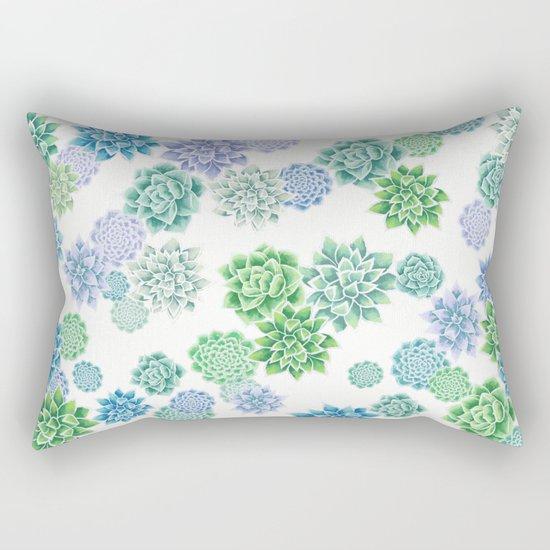 Floral succulent pattern Rectangular Pillow