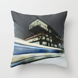 Library Blizzard Throw Pillow