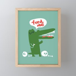 Hungry Hungry Alligator Framed Mini Art Print